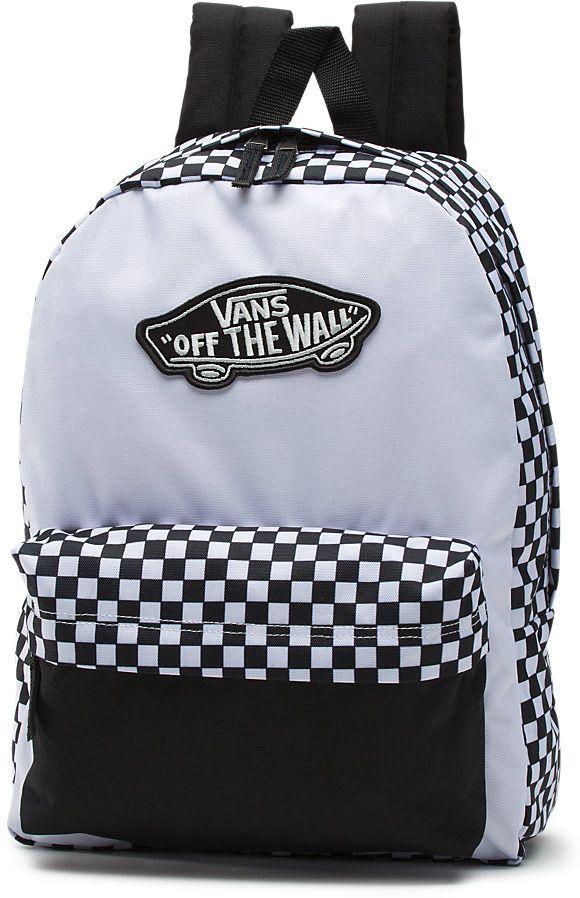 dámský batoh vans REALM BACKPACK Black White Checkerboard 261515b4cf
