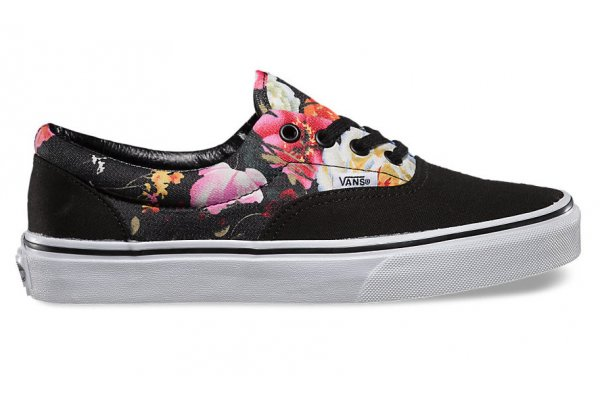 dámské boty vans ERA (Floral) Black True White 50401f4102