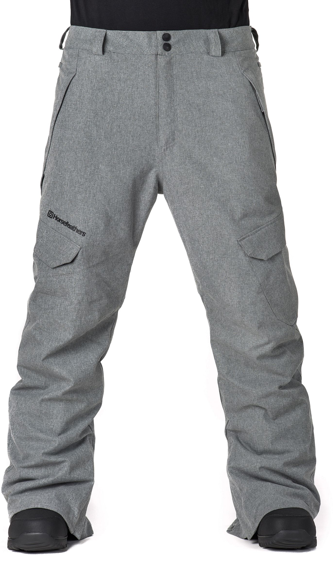 pánské zimní kalhoty horsefeathers VOYAGER PANTS (gray melange) 4aeb6a335b