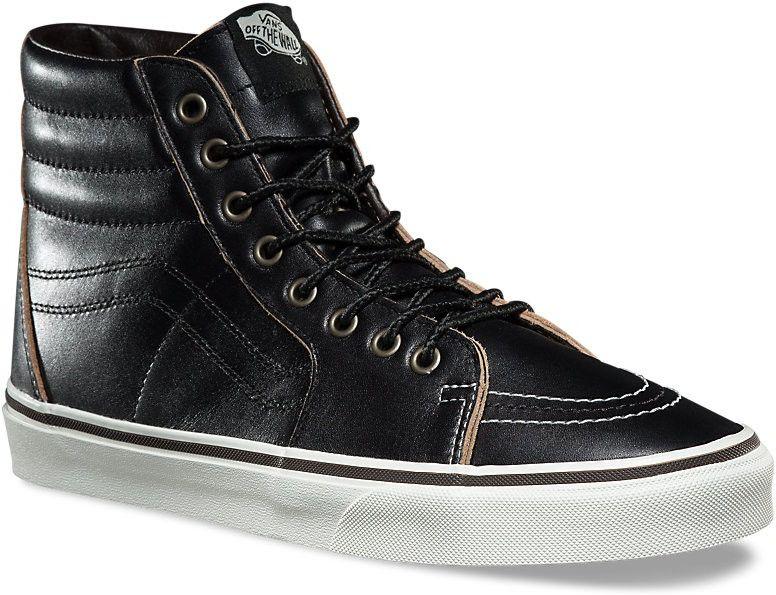 9515e785f43 pánské kotníkové boty vans SK8-HI (GROUNDBREAKERS) Black White