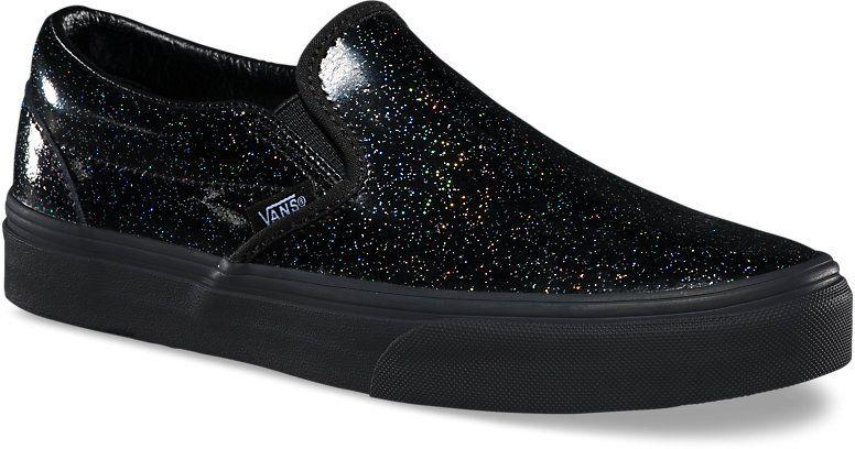 82e7f6dbbe9 dámské boty vans CLASSIC SLIP-ON W (Patent Galaxy) Black Black