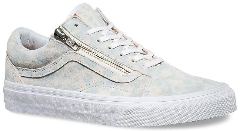 3c6fe6577c6 dámské boty vans OLD SKOOL ZIP (Marble Suede) Blue True White