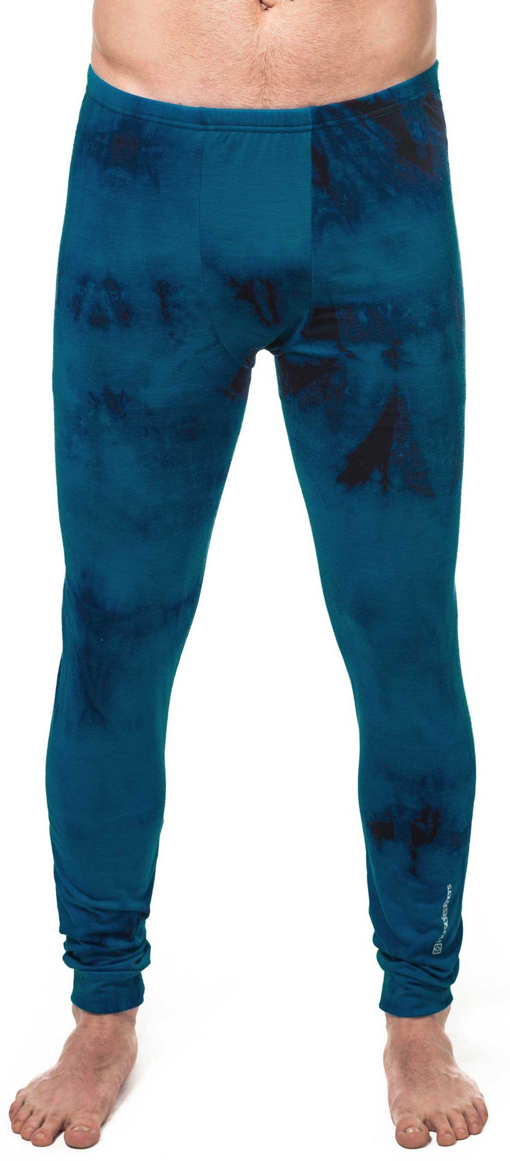 pánské termoprádlo HORSEFEATHERS SILAS PANT (blue batik)