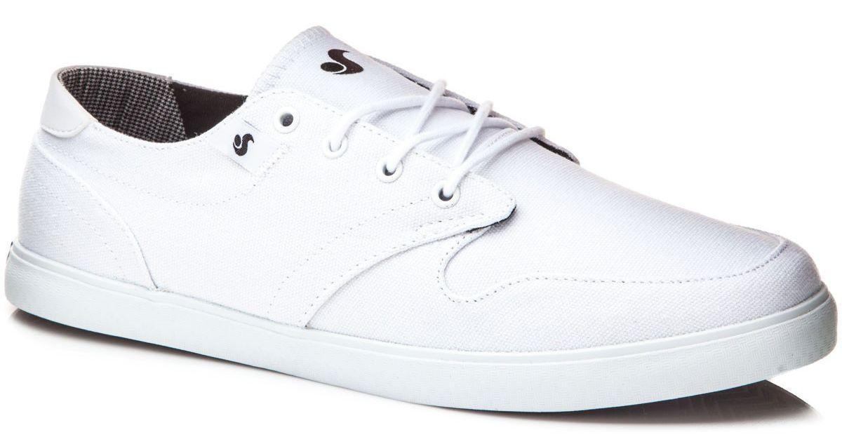 pánské boty DVS WHITMORE WHITE CANVAS