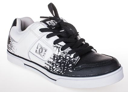 dámské boty DC W pure se white black print