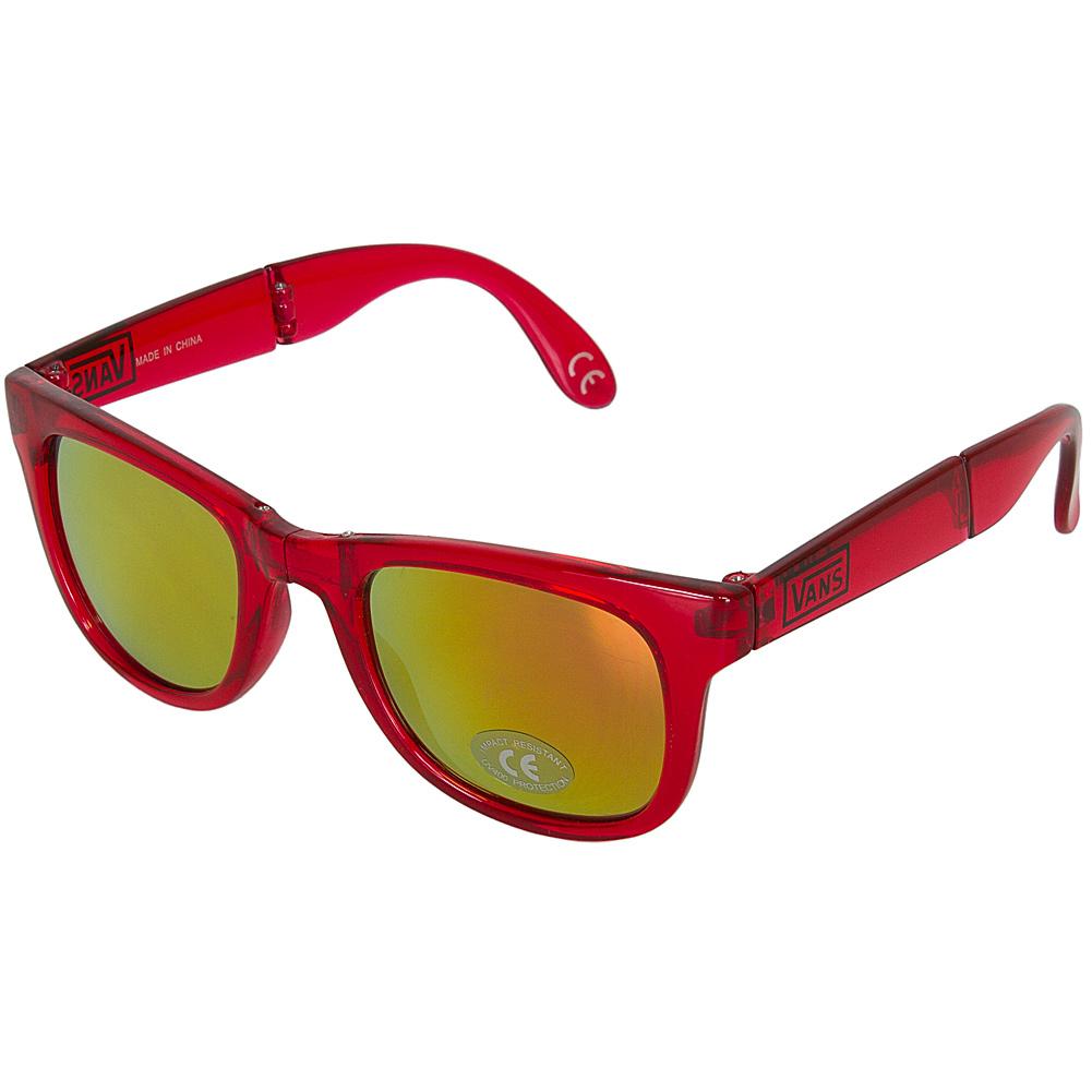 pánské sluneční brýle VANS FOLDABLE SPICOLI SHADES Transparent Red