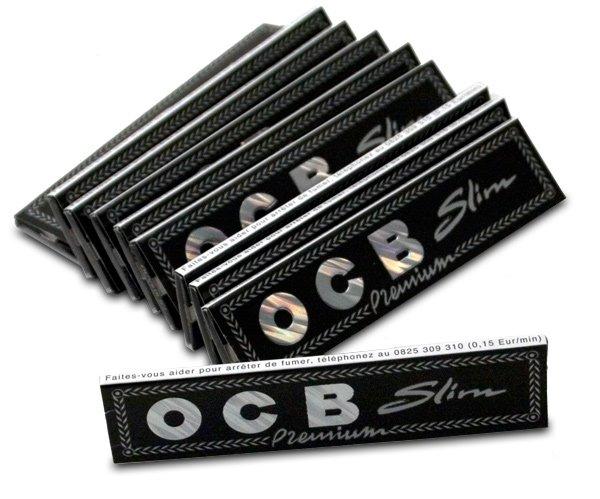 cigaretové papírky SMOKING OCB slim premium black