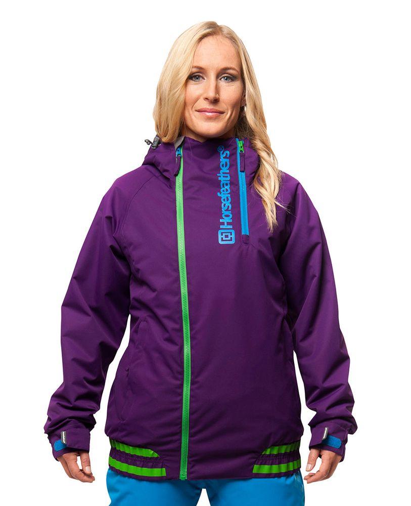 dámská zimní bunda HORSEFEATHERS NYRA JACKET (purple)