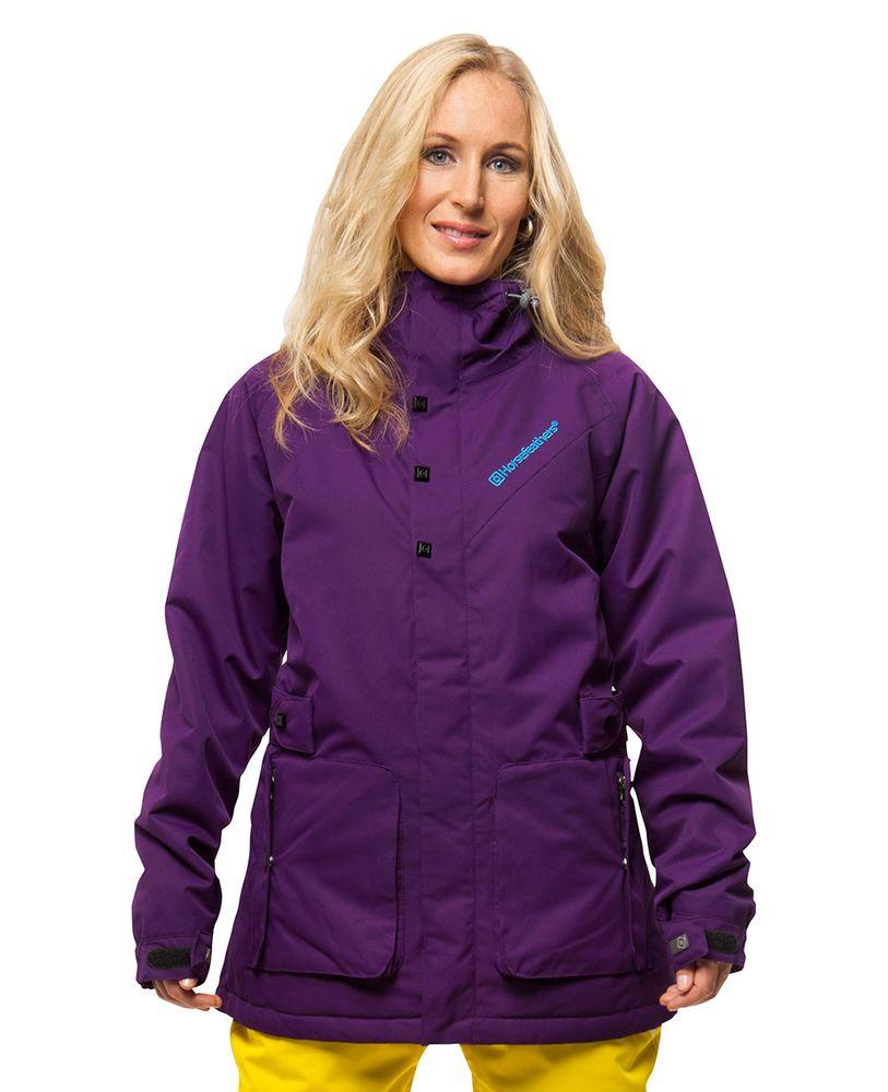 dámská zimní bunda HORSEFEATHERS SILAF JACKET (purple)
