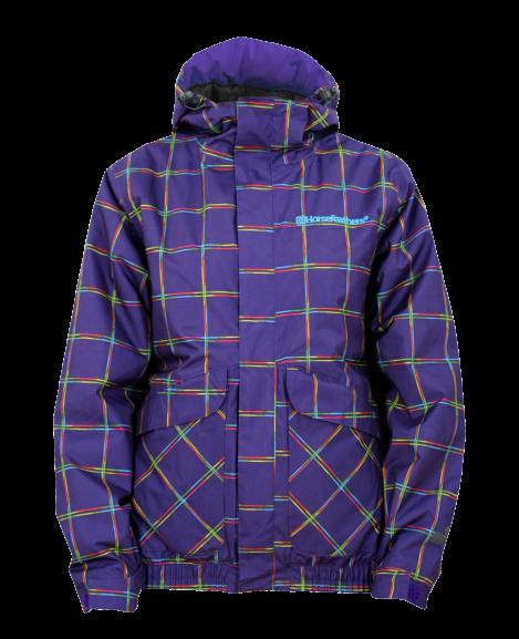 dámská bunda HORSEFEATHERS TAYGETA JACKET insulated (violet check)