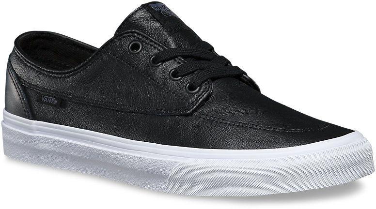 pánské boty VANS BRIGATA (Premium Leather) Black/True White