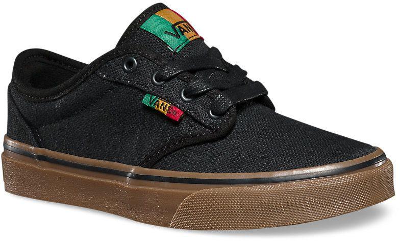 dětské boty VANS ATWOOD (Rasta) Black/Gum