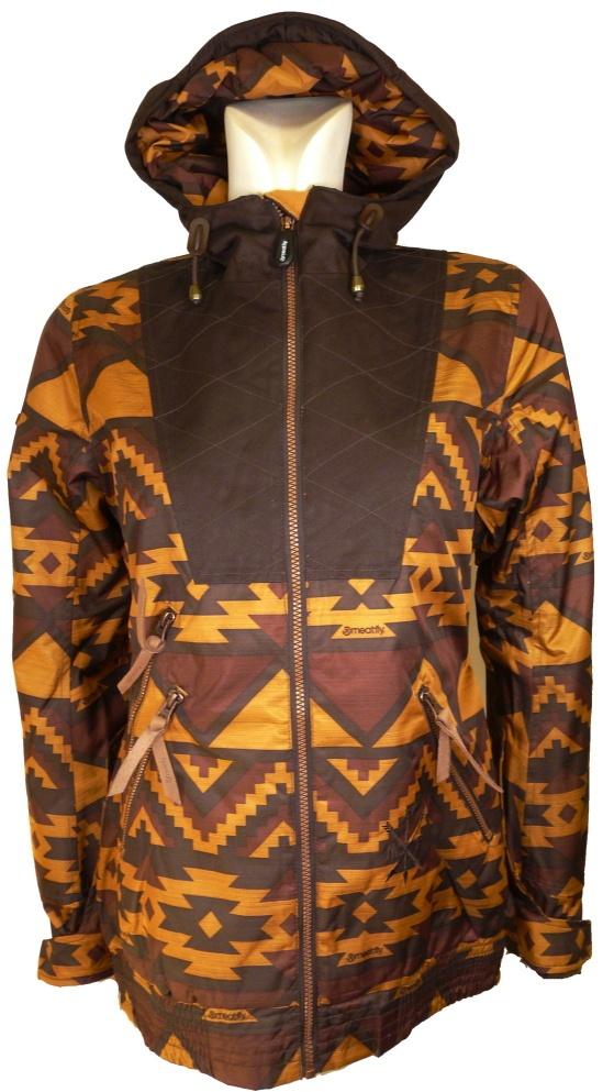dámská zimní bunda MEATFLY Para jacket A,brown navajo