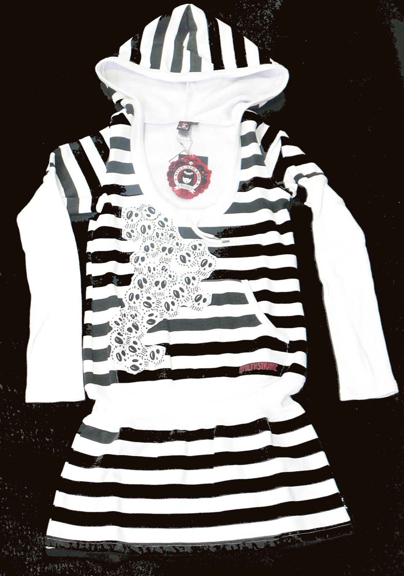 dámské šaty EMILY Nouveau skull black white