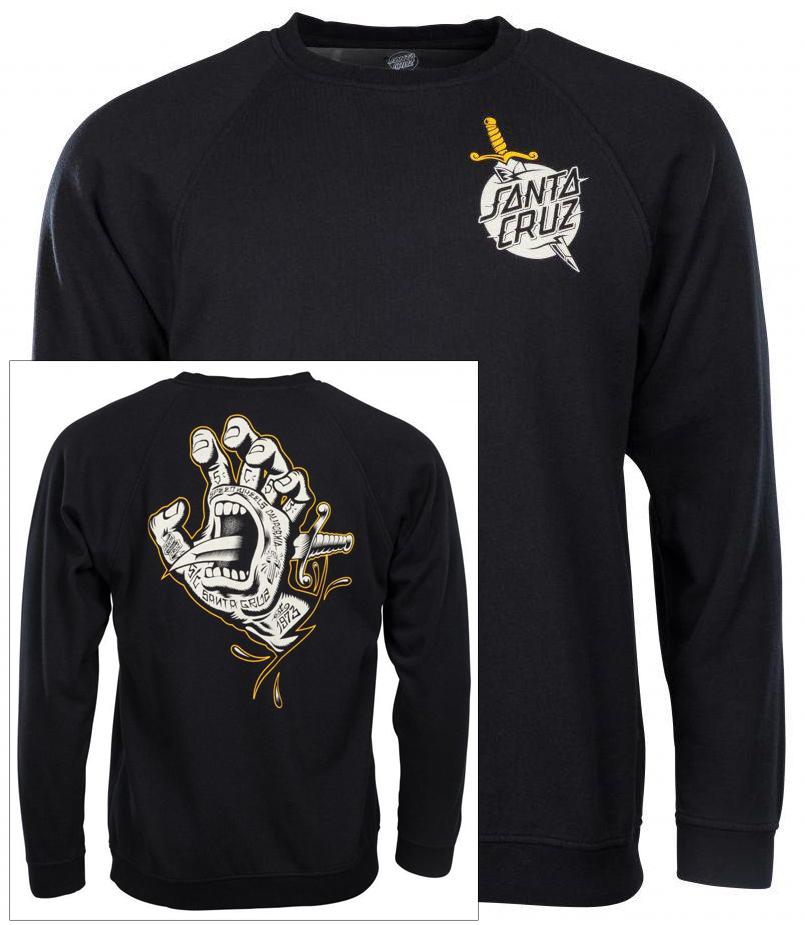 pánská mikina SANTA CRUZ Flash Hand Black