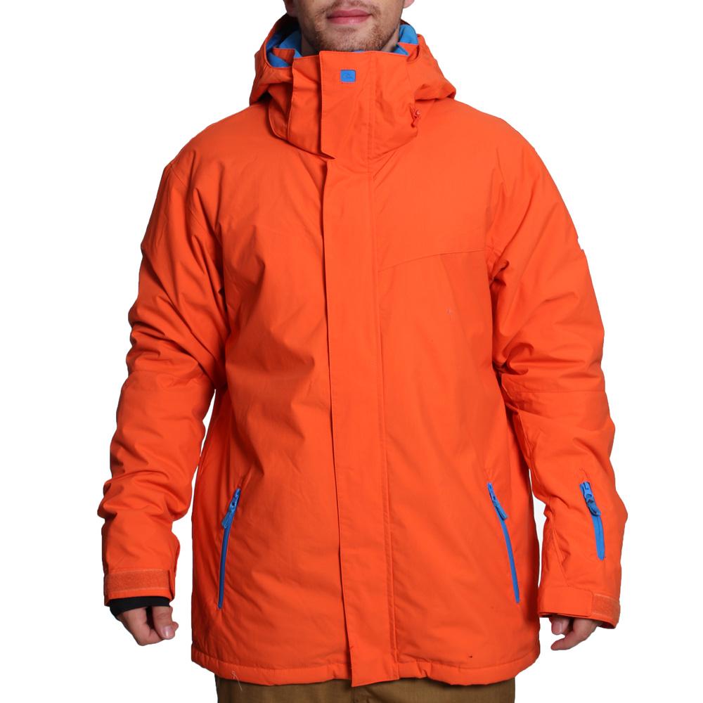 pánská zimní bunda QUIKSILVER NEXT MISSION PLAIN INS JKT ORNG