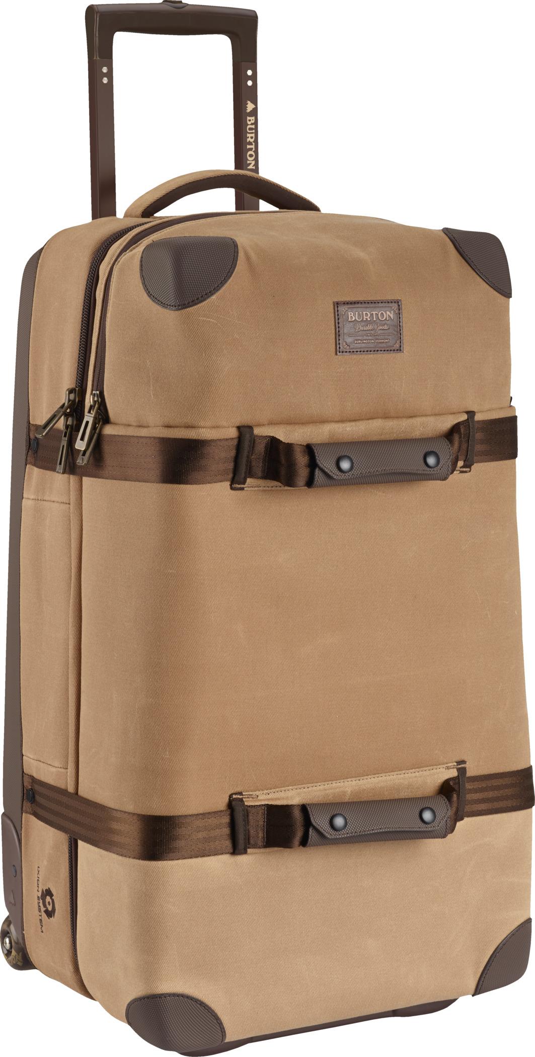cestovní taška BURTON WHEELIE DOUBLE DECK BEAGLE BRWN WXD CNVS