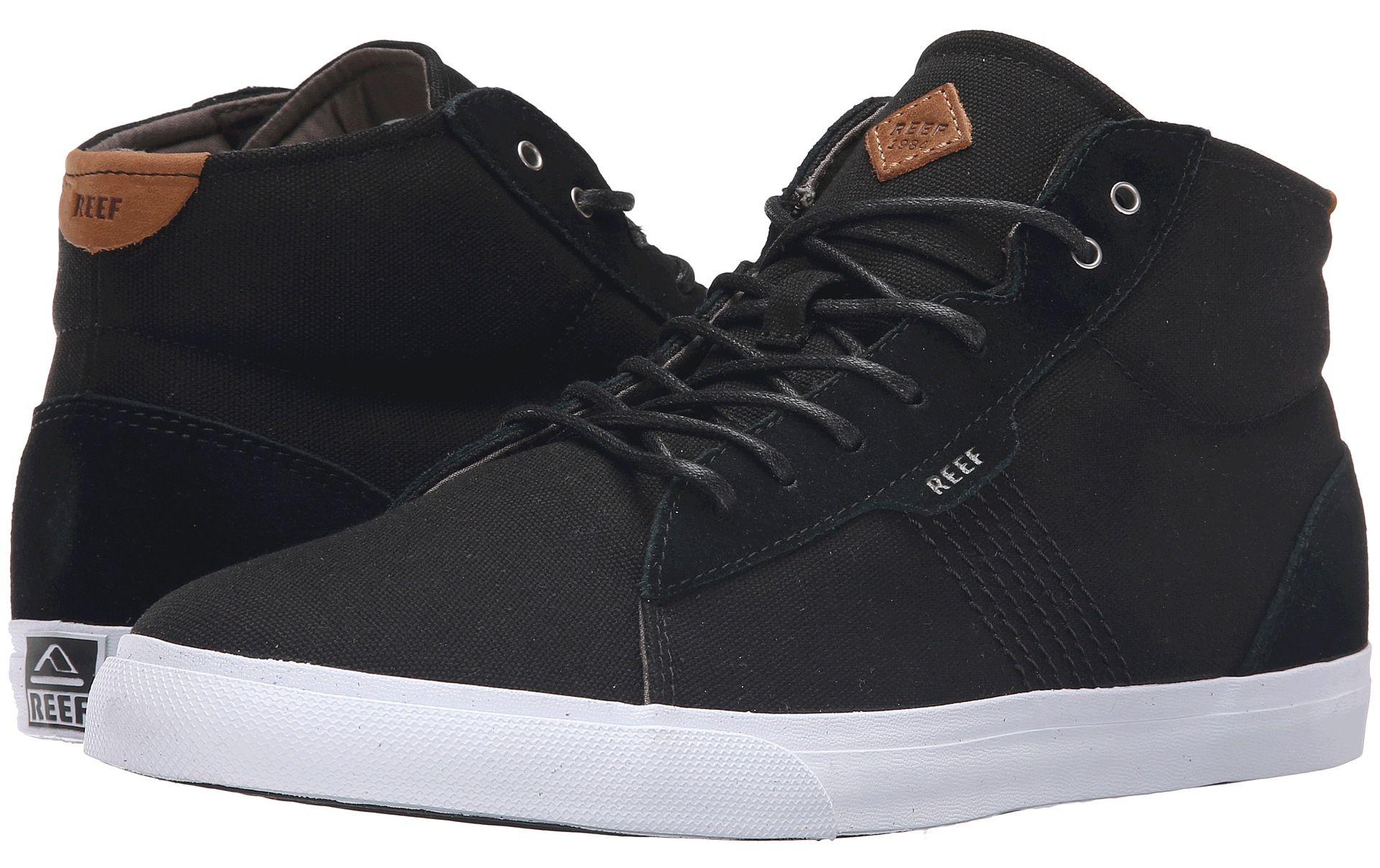 pánské kotníkové boty REEF RIDGE MID BLACK