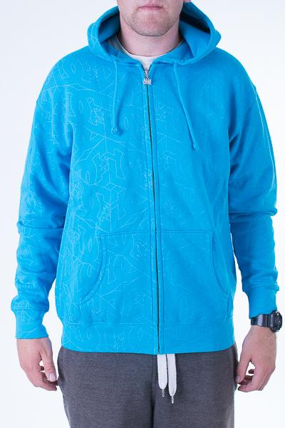 pánská mikina DC Starlock full zip hood br/blu