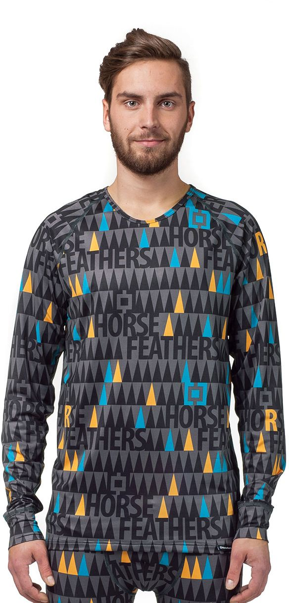 thermo prádlo HORSEFEATHERS STORM LS SHIRT (black forrest)