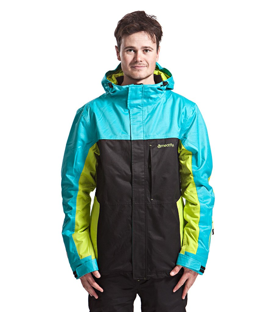 pánská zimní bunda MEATFLY Jupiter jacket A,blue black lime