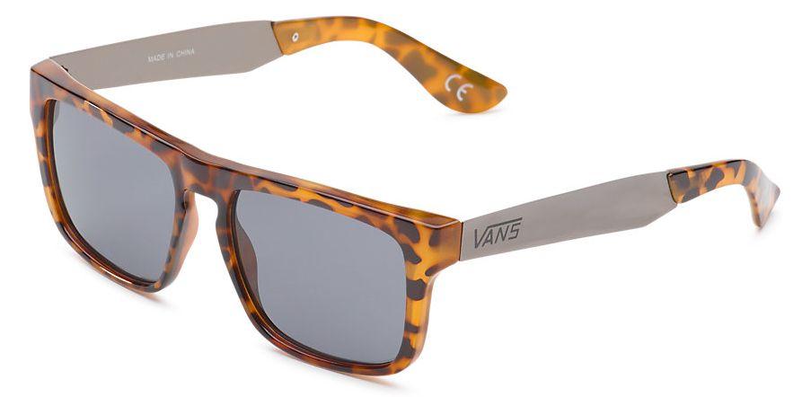 pánské sluneční brýle VANS SQUARED OFF Clear Tortoise/Gun Metal