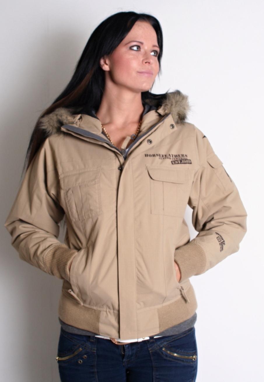 dámská bunda HORSEFEATHERS Patrol jacket insulated beige