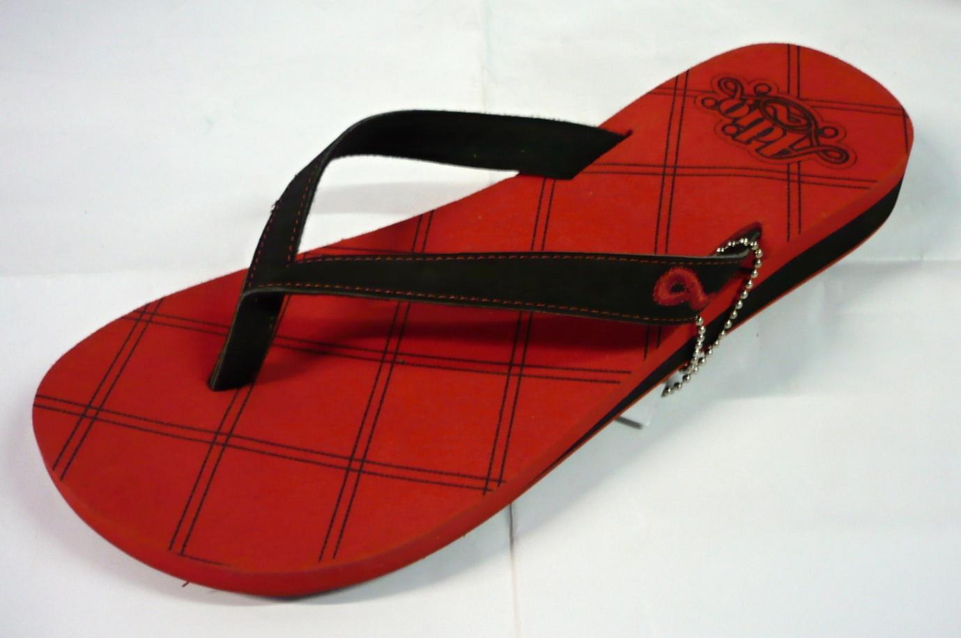dámské žabky ADIO Vega red black