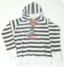 Black white stripe hoody