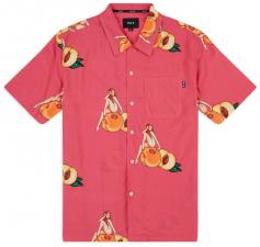 9a657f621 pánská košilehuf PEACHY WOVEN SHIRT Fuchsia. M; L