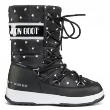 dětské zimní botymoon boot W.E. QUILTED STAR JR Black White 398627c84d